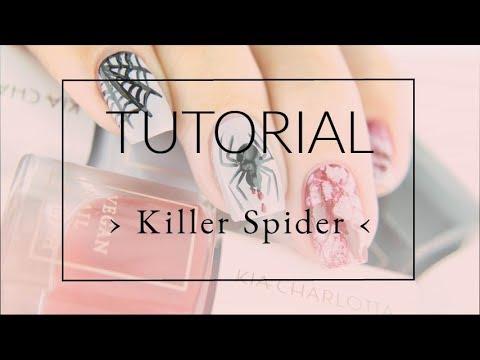 Killer Spider Nail Art Tutorial  Kiacharlotta