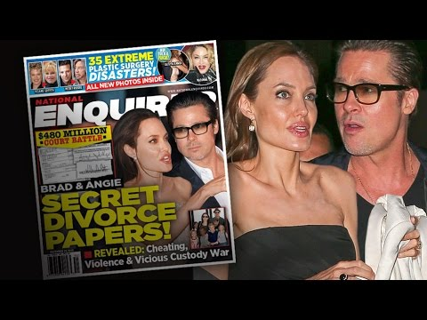 Angelina and Brad Divorce. Divorce Indications in Astrology from AstroLada.com
