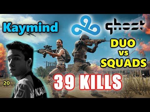 Cloud 9 Kaymind & Ghost Drassel - 39 KILLS - M416+AWM - DUO vs SQUADS - PUBG