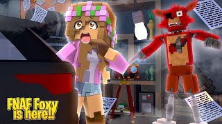 FOXY'S NIGHT OF TERROR ... NIGHT #2 | Minecraft FNAF w/ Little Kelly (Custom Roleplay)