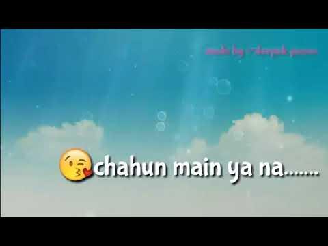 Tu hi ye mujhko bta de( aashiq 2 ) Whatsapp lyrics video