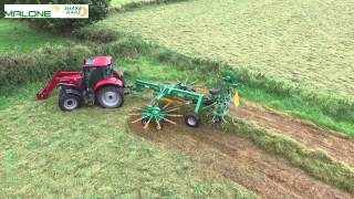Malone Farm Machinery launch Shake 'n' Rake at Ploughing 2015