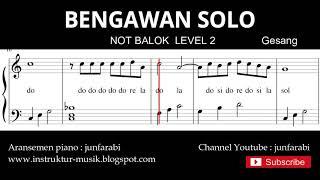 not bengawan solo  - notasi balok level 2 - lagu wajib  - do re mi / sol mi sa si