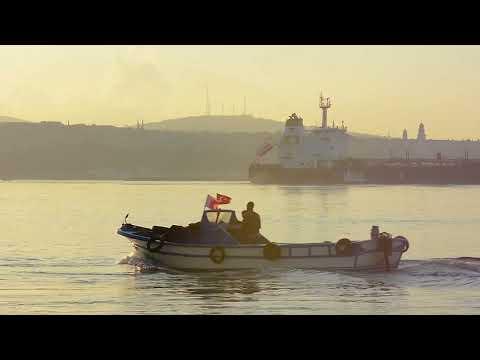 Ship Freight Ship Tanker River Ocean Istanbul No Copyright Video