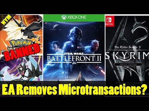 Pokemon Ultra Sun and Moon Bans, EA Removes Battlefront II Microtransactions, Skyrim on Switch