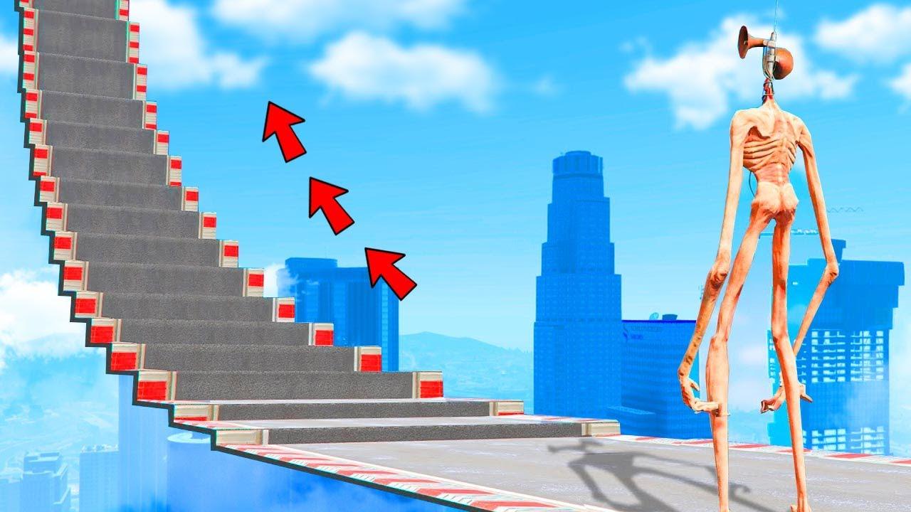 GTA 5 - Wie hoch Kann Siren Head Klettern? ( experiment )