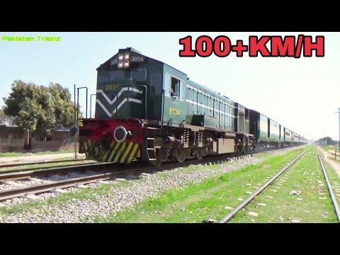 Pakistan Fastest Train Awam Express With Hitachi Locomotive Crossing Kala Gujran