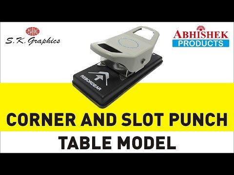 Corner And Slot Punch Table Model [How To Cut Corners And Punch Slot For Visiting Cards]