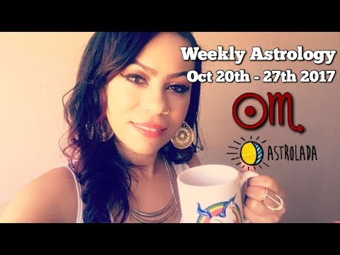 "Weekly Astrology Forecast for Oct 20th - 27th & Celebrity ""Coffee Talk"" W/Astrologer April!"