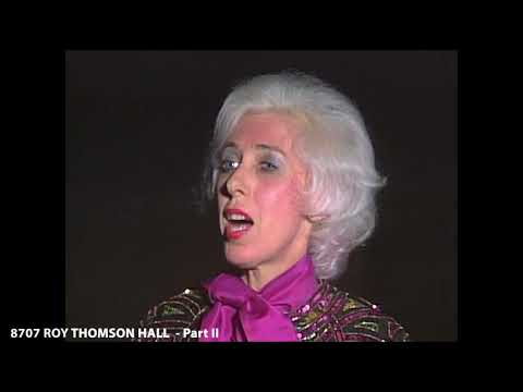 ROY THOMSON HALL  - Part II (The Joy Of Music With Diane Bish)