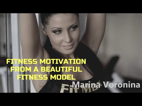 Fitness motivation from a beautiful fitness model