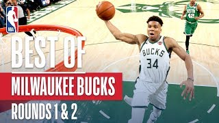 Best Plays From the Milwaukee Bucks In Rounds 1 & 2 | 2019 NBA Playoffs