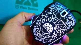 Unboxing the Flexbrains USB Wired Gaming Mouse with 7-Light LED & Ergonomic Design