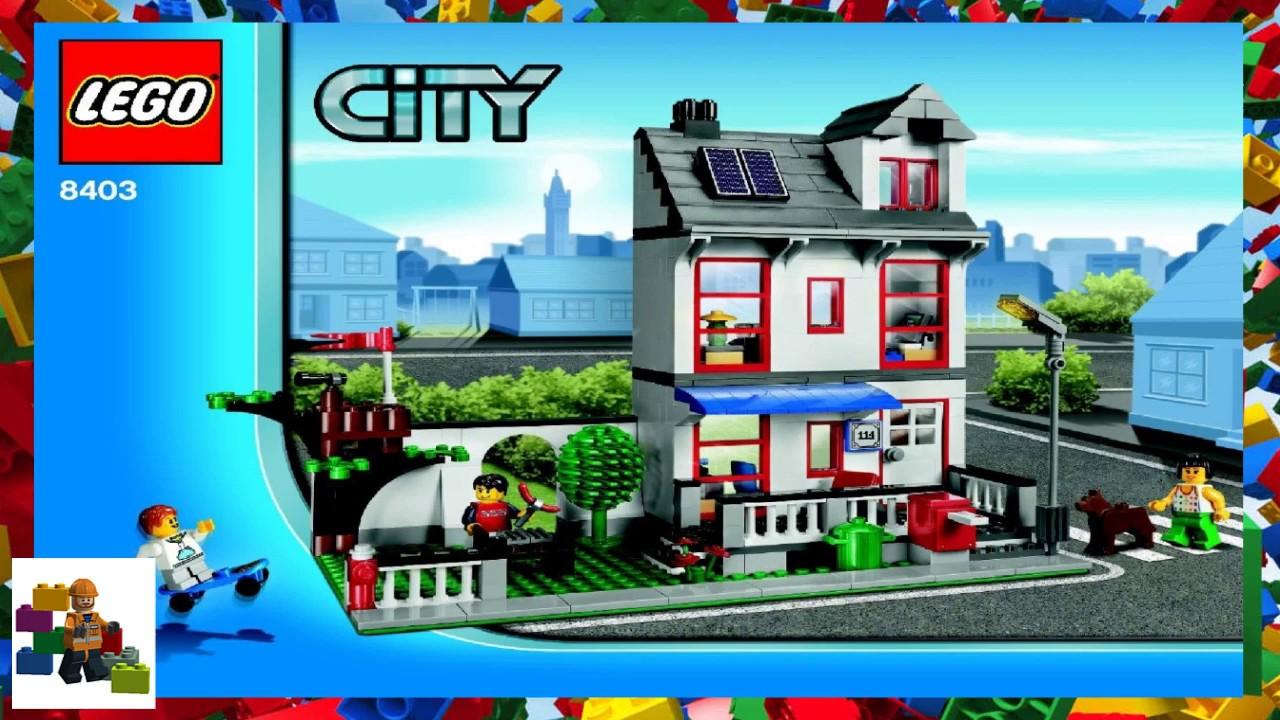 LEGO instructions - City - 8403 - City House - YouTube