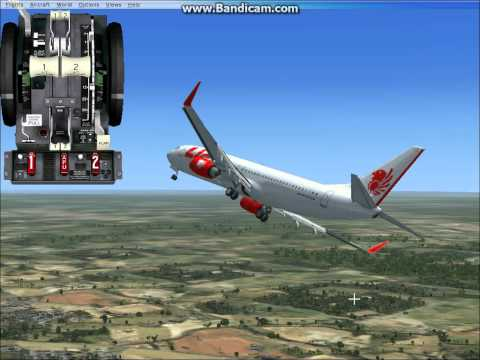 Fsx Boeing 737-800 Lion Air fly Jakarta to Pontianak .avi