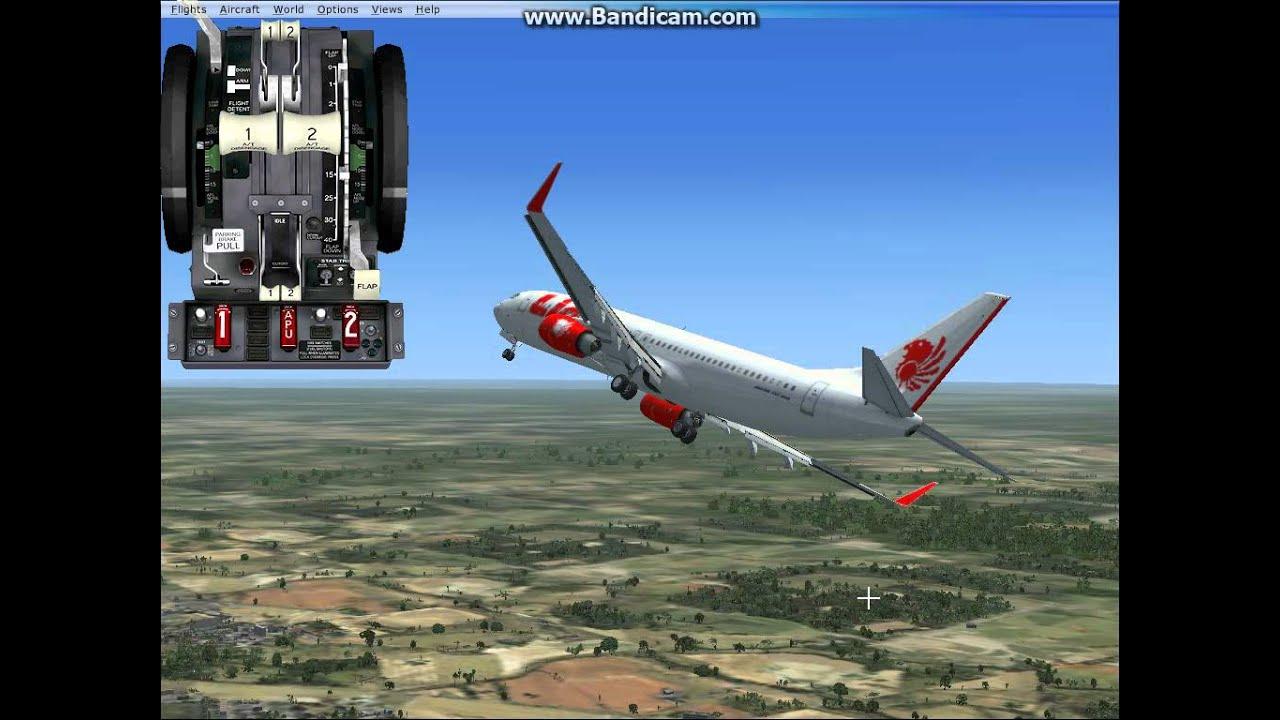 Fsx Boeing 737 800 Lion Air Fly Jakarta To Pontianak Avi Youtube