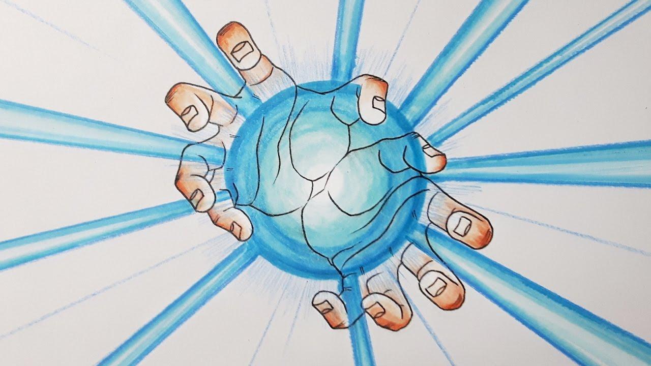 How To Draw Hands Kamehameha Tutorial
