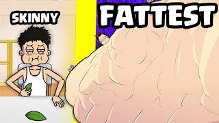 EATING from SKINNY to MAX LEVEL FATTEST in Food Fighter Clicker Update