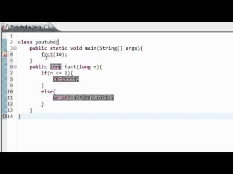 Java Tutorial 12: Recursive Programming - YouTube