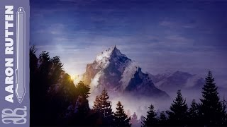 Digital Art Speed Painting Landscape - Mountain in the Clouds (Corel Painter 2017)