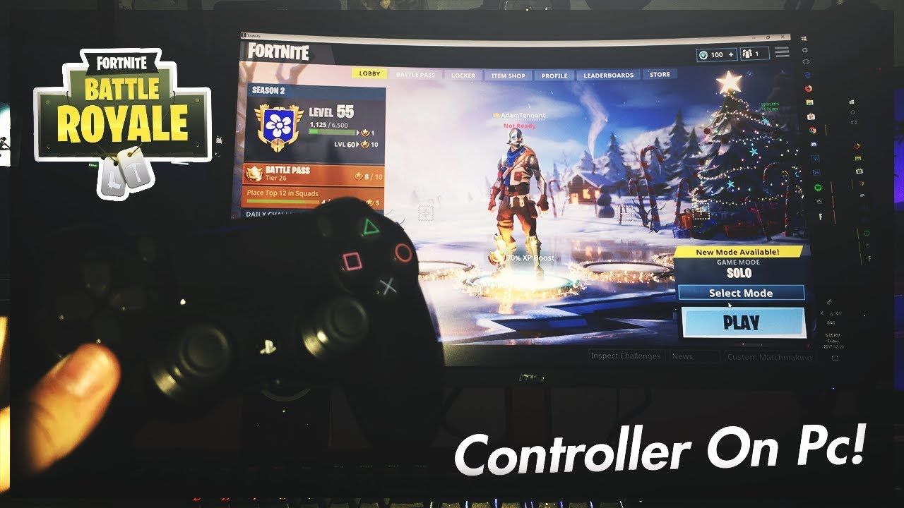 using ps4 controller for pc fortnite
