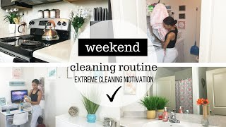 WEEKEND CLEANING ROUTINE // CLEAN WITH ME // CLEANING MOTIVATION