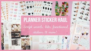 Planner Sticker Haul || Script words, Kits, Functional stickers & more! // Plan with Juli