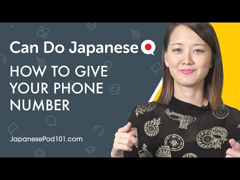 How To Give Your Phone Number In Japanese - Can Do #4