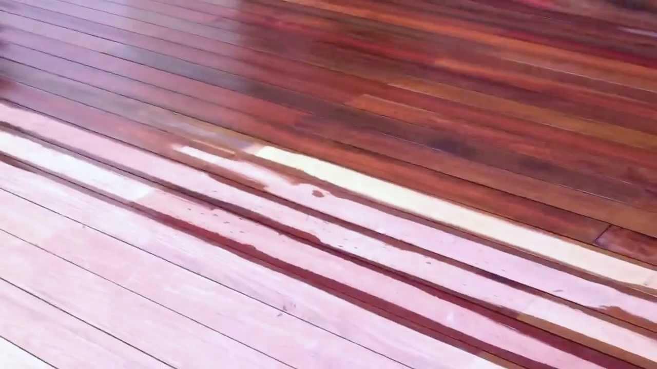 Ipedex Oiling A Ipe Wood Deck Huilage Terrasse En Bois Ipé