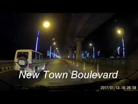 Night View of Airport Road - VIP Road - New Town Boulevard - Sreebhumi, Lake Town (1080p 60fps)