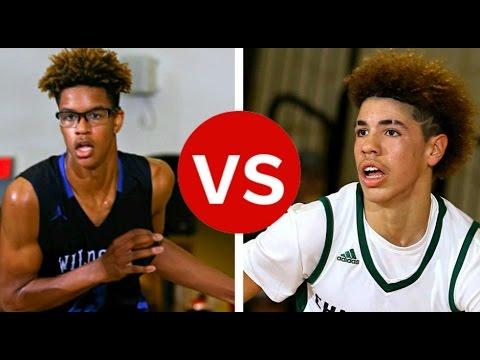 Shaq's Son Shareef O'Neal vs Chino Hills's Lamelo Ball Basketball Highlights Mix