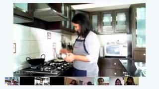 Google Hangout Video:Gobi Manchurian Cooking Class by Archana