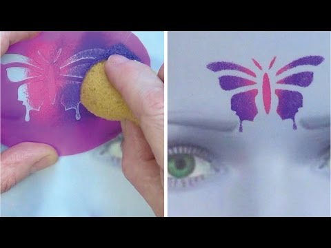 Learn to create and apply stencils - Face Painting Made Easy PART 6
