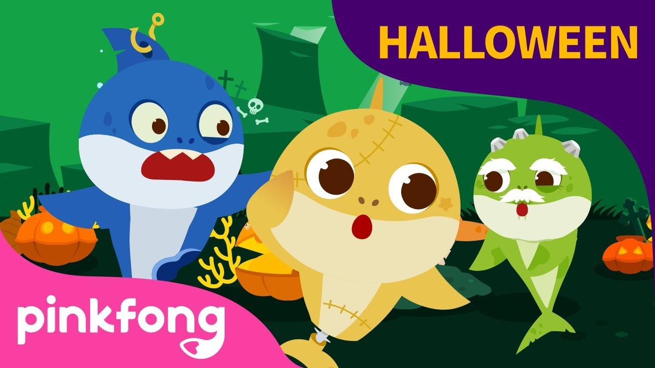 Tiburones Zombi de Halloween y más canciones para niños|+Recopilación| Pinkfong Canciones Infantiles