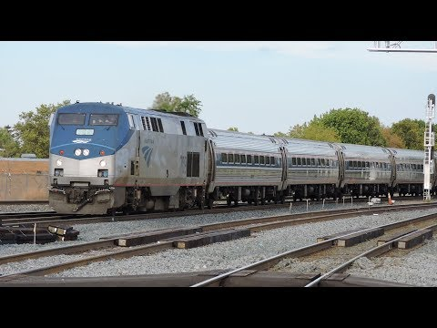 Amtrak P281 At Rochester Amtrak Station In Rochester, NY 10-8-17