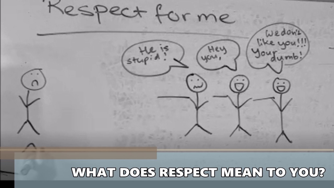 what does respect mean to me