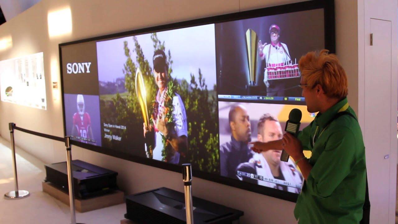 Sony Laser 4K multi projector! [CES 2015] - YouTube
