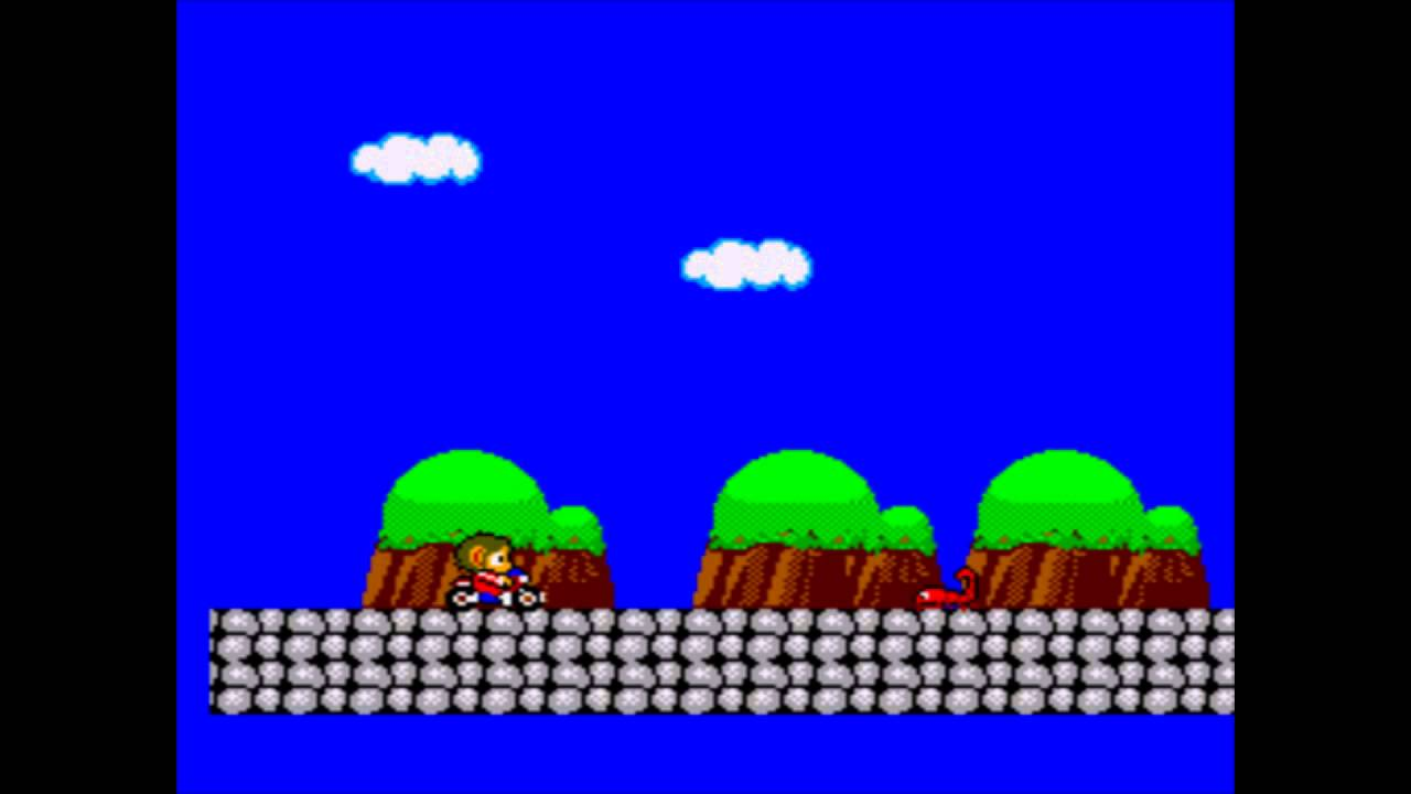 Alex Kidd In Miracle World Death In Demo Mode Youtube
