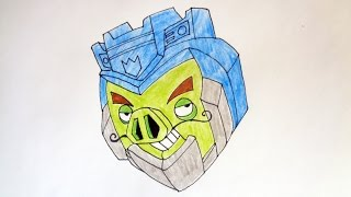 How to draw Angry Birds Transformers Soundwave