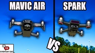 DJI Mavic Air VS DJI Spark!  What's the BEST BEGINNERS DRONE YOU can buy?!