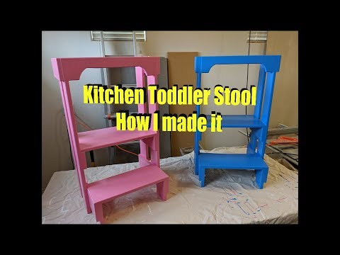 Kitchen Toddler Stool - How I Made It.