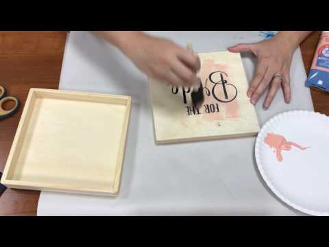 How to Create a Custom Paint and Wood Burned Box With FDC Vinyl