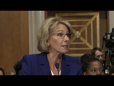 Education secretary nominee Betsy DeVos questioned on Capitol Hill