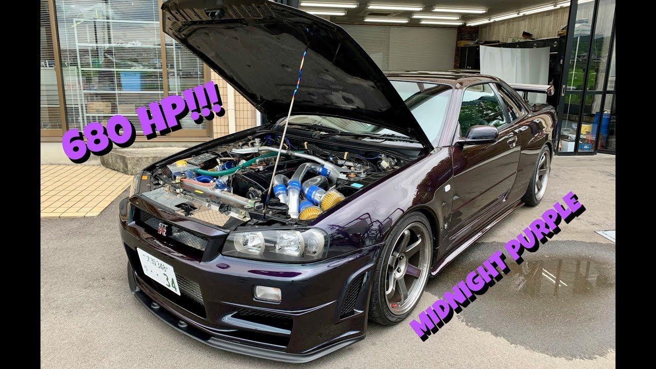 Fully Tuned Midnight Purple R34 Gtr