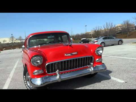 Red Chevy: MD DC Photographer pocket video news test - 1955 Chevrolet Bel Air