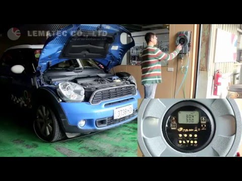 LEMATEC Automatic Tire inflator and Wall-mount type System Auto filling Tire tools operation