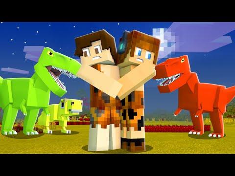 PRIMEIRA NOITE NO MUNDO DOS DINOSSAUROS !! - Minecraft Dinossauros #02