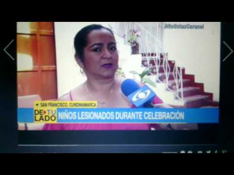 Reportaje video quemados dia de la velitas San Francisco Cundinamarca.