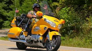 """Tail of the Dragon,""  Pt. 1.  Gary J, on the  Yellow 1800 Goldwing"