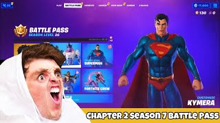 Lazarbeam reacts to Chapter 2 Season 7 Battle Pass